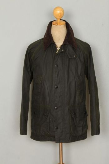 BARBOUR Bedale WAXED Jacket Green Size 36 Small